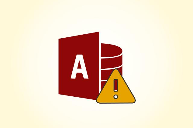 Fix MS Access Error