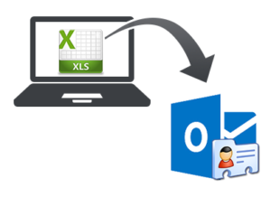 Import XLS contacts into Outlook