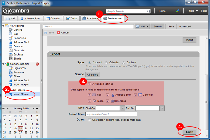 How to Export Email from Zimbra to Thunderbird | HighlightStory