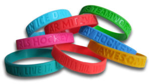 Customized rubber wristbands