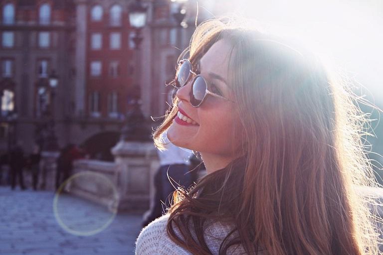 smiling