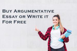 Buy Argumentative Essay