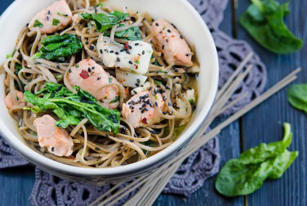 Salmon Noodle Bowl